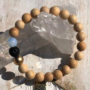Rosewood & Gemstone Mala Bracelet